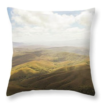 Peaceful Countryside Panorama Throw Pillow