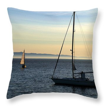 Peaceful Day In Santa Barbara Throw Pillow