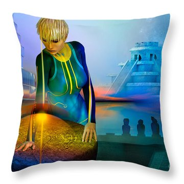Peaceful Discovery Throw Pillow by Shadowlea Is