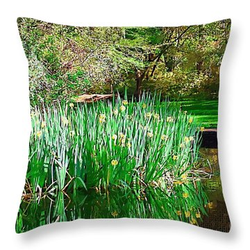 Throw Pillow featuring the photograph Peaceful by Donna Bentley