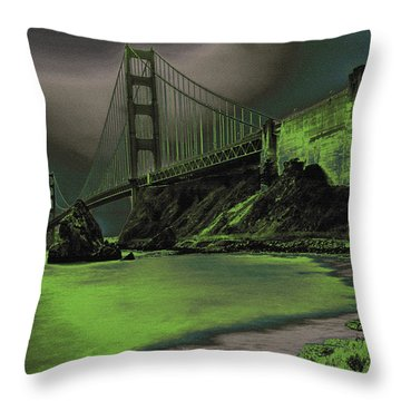 Peaceful Eerie Feeling Throw Pillow