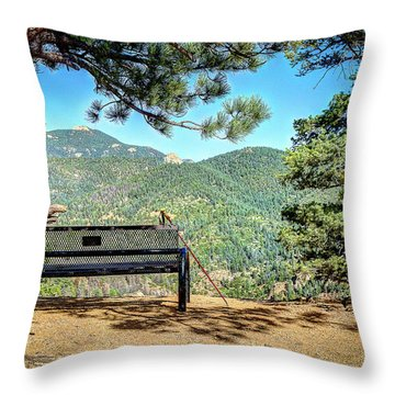 Peaceful Encounter Throw Pillow