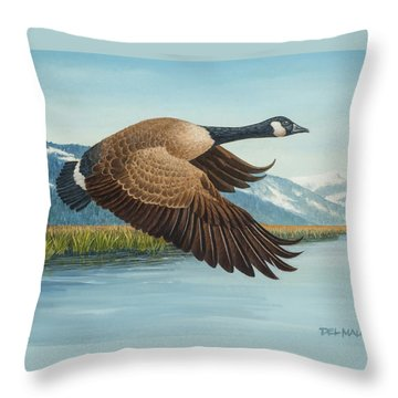 Peaceful Flight Throw Pillow