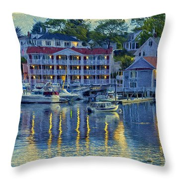 Peaceful Harbor Throw Pillow