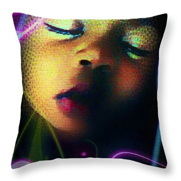 Peaceful Throw Pillow by Iowan Stone-Flowers