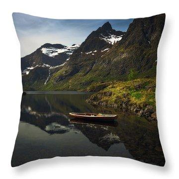 Peaceful Lofoten Throw Pillow