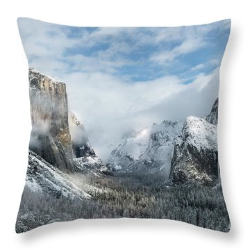 Throw Pillow featuring the photograph Peaceful Moments - Yosemite Valley by Sandra Bronstein