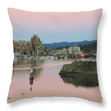 Peaceful Morning Throw Pillow by Betty Buller Whitehead