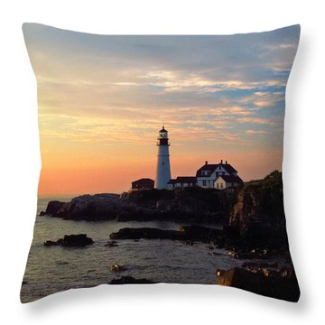 Peaceful Mornings Throw Pillow