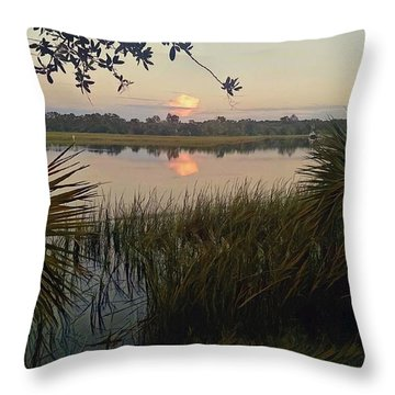 Peaceful Palmettos Throw Pillow