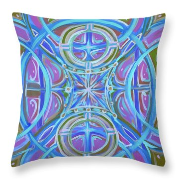 Throw Pillow featuring the painting Peaceful Patience by Jeanette Jarmon