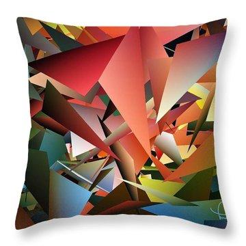 Peaceful Pieces Throw Pillow