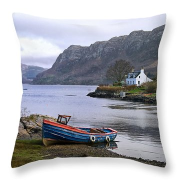 Peaceful Plockton Throw Pillow