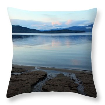 Peaceful Priest Lake Throw Pillow by Carol Groenen