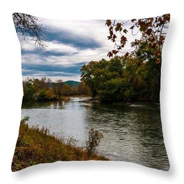 Peaceful River Throw Pillow