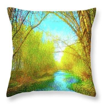 Peaceful River Spirit Throw Pillow