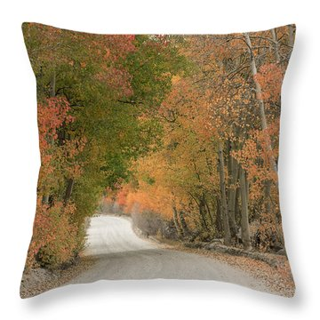 Throw Pillow featuring the photograph Peaceful Sierra Morning by Sandra Bronstein