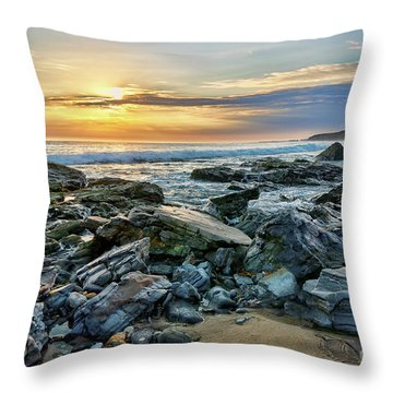 Peaceful Sunset At Crystal Cove Throw Pillow