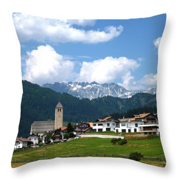 Peaceful Village Throw Pillow