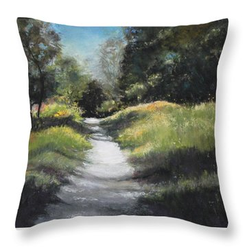Peaceful Walk In The Foothills Throw Pillow