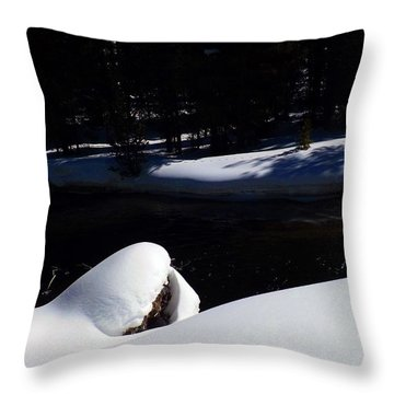 Peaceful Winter Scene Throw Pillow by C Sitton
