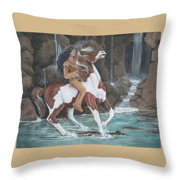 Peacemaker's Ride Throw Pillow