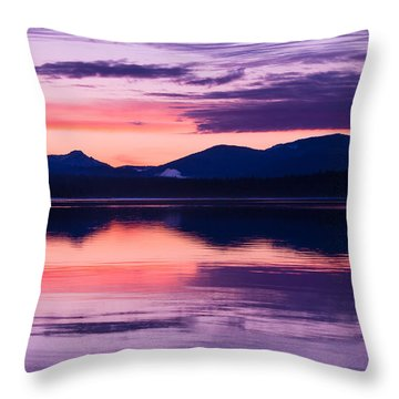 Throw Pillow featuring the photograph Peach And Lavender by Jan Davies