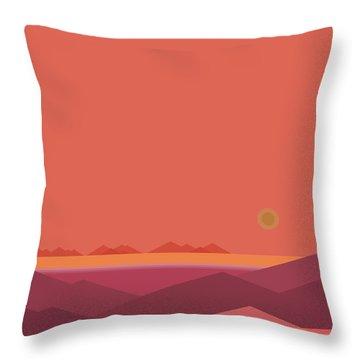 Peach Dawn Throw Pillow