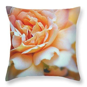 Peach Delight Throw Pillow