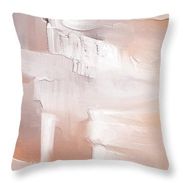 Peach Melba Throw Pillow
