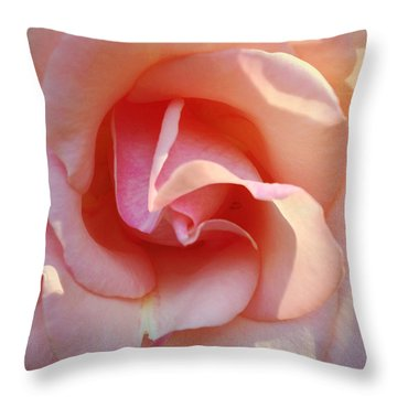 Peaches And Cream Throw Pillow