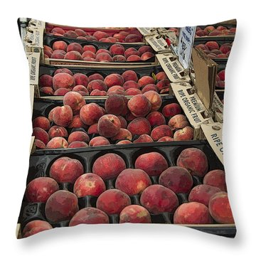 Throw Pillow featuring the photograph Peaches And by Jeanette French