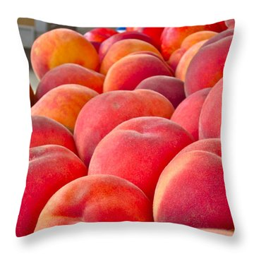 Peaches For Sale Throw Pillow