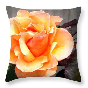 Peaches N' Cream Throw Pillow by Joyce Dickens