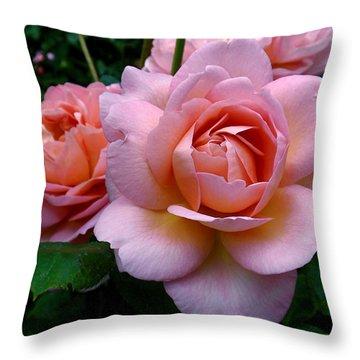 Peachy Pink Throw Pillow