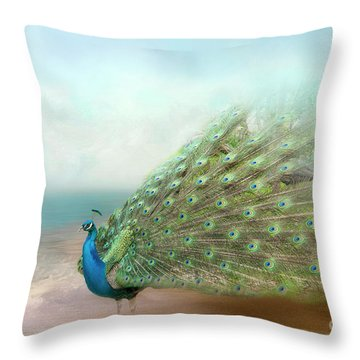 Peacock Beauty Throw Pillow