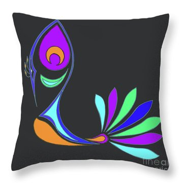 Peacock Impressions Throw Pillow