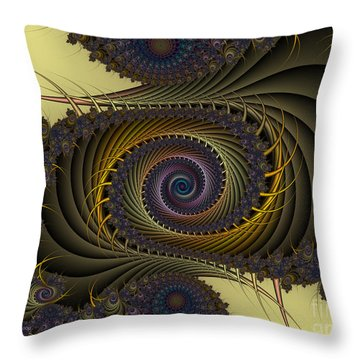 Throw Pillow featuring the digital art Peacock by Karin Kuhlmann