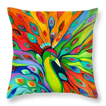 Peacock On The 4th Of July Throw Pillow
