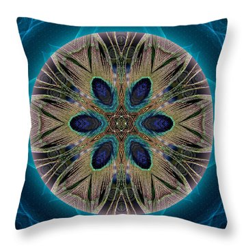 Peacock Power Throw Pillow