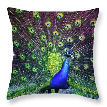 Peacock Series 9801 Throw Pillow