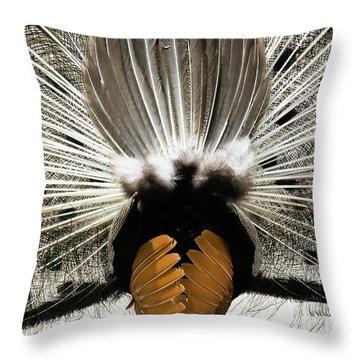 Peacock's Behind Throw Pillow