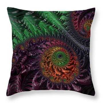 Peacock's Eye Throw Pillow