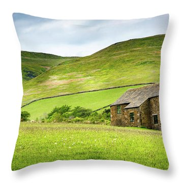 Peak Farm Throw Pillow