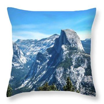 Peak Of Half Dome- Throw Pillow