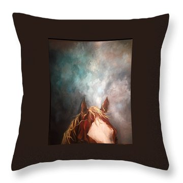 Peakabo  Throw Pillow by Heather Roddy
