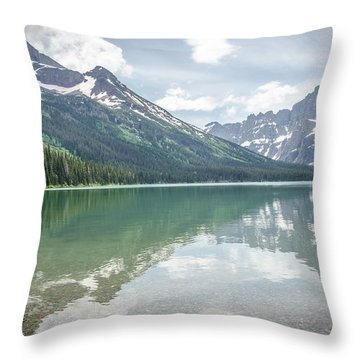 Peaks At Lake Josephine Throw Pillow
