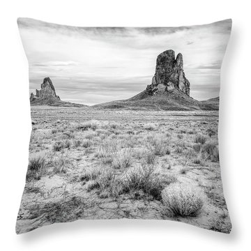 Peaks In The Valley Throw Pillow
