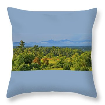 Peaks Of Otter After The Rain Throw Pillow