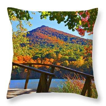 Peaks Of Otter Bridge Throw Pillow
